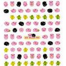 Kamio Japan My Dear Pig Sticker Sheet Rare Kawaii