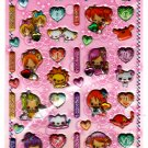 Crux Japan 12 Star Girls Puffy Sticker Sheet Kawaii