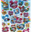 Kamio Japan Flower Angel Epoxy Sticker Sheet Kawaii