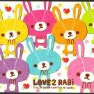Crux Japan Love 2 Rabi Mini Memo Pad Kawaii
