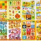 San-X Japan Mikan Bouya Mixed Characters Jumbo Sealdass Sticker Booklet by Bandai 2004 Kawaii