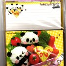 Kamio Japan Panda's Lunch Box Letter Set with Stickers Kawaii