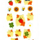Ark Road Japan Hamsters Satin Sticker Sheet Rare Kawaii