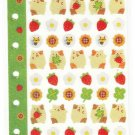 Ark Road Japan Hamsters Satin Sticker Sheet for Organizer Rare Kawaii