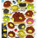 Kamio Japan Fluffy Hedgehog Puffy Sticker Sheet Kawaii