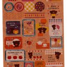 Kamio Japan Bear Craft Seal Sticker Sheet Kawaii
