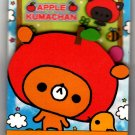 Kamio Japan Apple Kumachan Mini Memo Pad Rare Kawaii