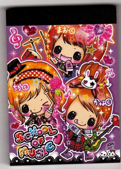Kamio Japan School of Music Mini Memo Pad Kawaii