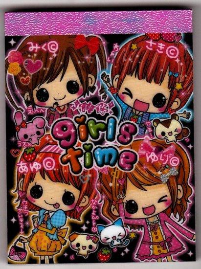 Kamio Japan Girls Time Mini Memo Pad Kawaii