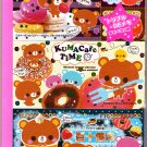 Crux Japan Kuma Cafe Time 3-Section Coupon Memo Pad Kawaii