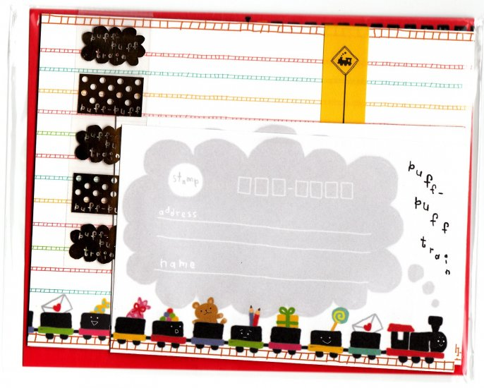 Mind Wave Japan Puff Puff Train Letter Set with Stickers Kawaii