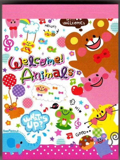 Q-Lia Japan Welcome Animals Mini Memo Pad (B) Kawaii
