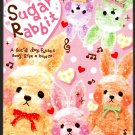 Q-Lia Japan Sugar Rabbit Mini Memo Pad (A) Kawaii