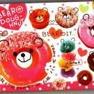 Crux Japan Bear Doughnut Mini Memo Pad Kawaii