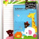 Kamio Japan Elephant Life Letter Set with Sticker Kawaii