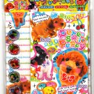 Kamio Japan Pure Smile Puppy Letter Set with Bubble Stickers Kawaii