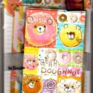 Crux Japan Bear Doughnut Letter Set Kawaii