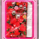 Crux Japan Strawberry Bunny Letter Set with Stickers in Box Rare Kawaii