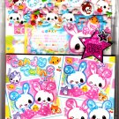 Q-Lia Japan Candy Twins Letter Set with Puffy Stickers Kawaii