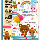 Mind Wave Japan Bear Smile Letter Set with Stickers Kawaii