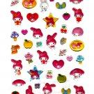 Sanrio Japan My Melody and Friends Epoxy Sticker Sheet 2007 Kawaii