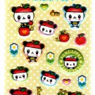 Sanrio Japan Pandapple Puffy Sticker Sheet 2006 Kawaii