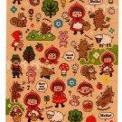 Mind Wave Japan Afternoon Forest Sticker Sheet (A) Kawaii