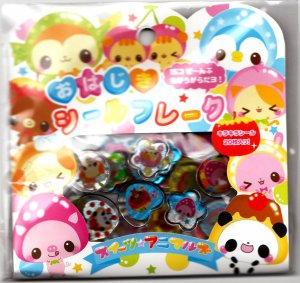 Crux Japan Fruit Animals Jewel Sticker Sack Kawaii