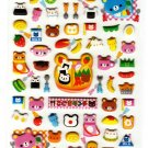 Kamio Japan Bear Lunch Box Puffy Sticker Sheet Kawaii