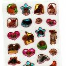 San-X Japan Happy Puppies Epoxy Mini Sticker Sheet (A) 2005 Kawaii