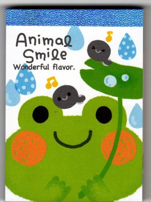 Kamio Japan Animal Smile Mini Memo Pad Kawaii
