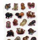 San-X Japan Happy Puppies Epoxy Mini Sticker Sheet (B) 2005 Kawaii