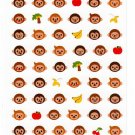Mind Wave Japan Monkey Faces Sticker Sheet Kawaii