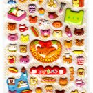 Kamio Japan Koguma Pan Puffy Sticker Sheet Kawaii