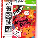 Q-Lia Japan Animal Punch Letter Set with Stickers Kawaii