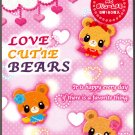 Wizard Japan Love Cutie Bears Memo Pad with Stickers Kawaii