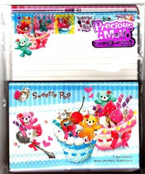 Kamio Japan Sweetie Pop Letter Set with Stickers Kawaii