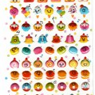 Crux Japan Happy Sweets Puffy Sticker Sheet Kawaii