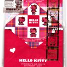 Sanrio Japan Hello Kitty Tartan Letter Set with Stickers by Sun Star 2009 Kawaii