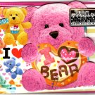 Kamio Japan I Love Bear Letter Set with Sticker Kawaii