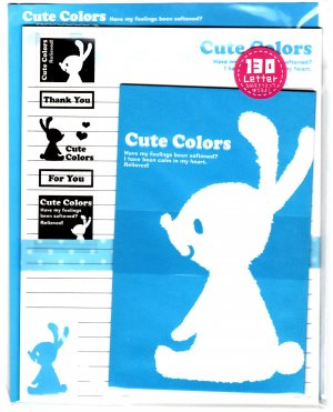 Crux Japan Cute Colors Letter Set with Stickers Kawaii