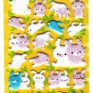 Crux Japan Rabbit Friends Puffy Sticker Sheet Kawaii