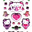 Sanrio Japan Hello Kitty Ballerina Puffy Sticker Sheet 2010 Kawaii