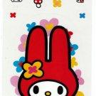 Sanrio Japan My Melody Clear Sticker Sheet 1998 Kawaii