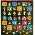 Sanrio Japan Kuririn Hamster Foil Sticker Sheet 2002 Kawaii