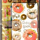 Crux Japan Bear Doughnut Letter Set (B) Kawaii