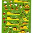 Kamio Japan Lazy Giraffe Puffy Sticker Sheet Kawaii
