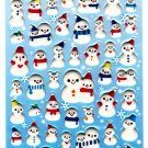 Kamio Japan Snowmen Puffy Sticker Sheet Kawaii