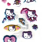 Sanrio Japan Hello Kitty Angel Puffy Sticker Sheet 2005 Kawaii