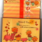 Crux Japan Heart Train Letter Set with Stickers Kawaii